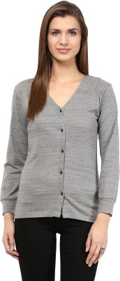Trend18 Women's Button Solid Cardigan