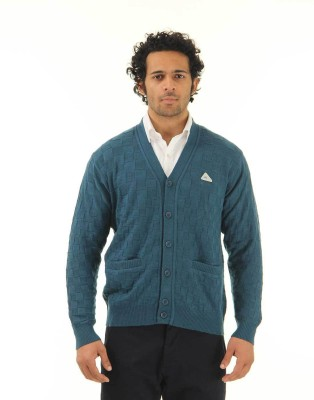 Monte Carlo Men's Button Self Design Cardigan