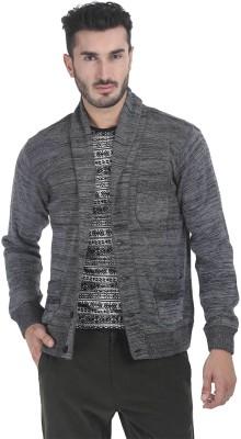 Zobello Men's Button Solid Cardigan