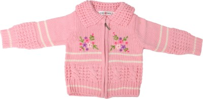 Offspring Baby Girl's Zipper Embroidered Cardigan