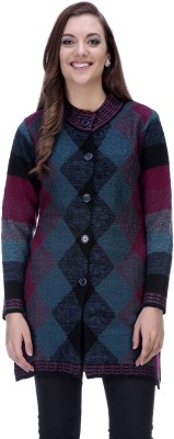 90 West Women's Button Printed Cardigan