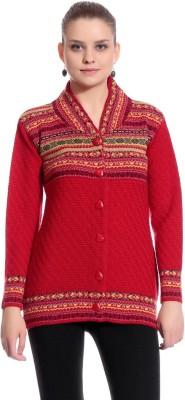 90west Women's Button Self Design Cardigan