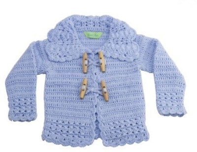NeedyBee Stylish Knitted Baby Boy's Button Solid Cardigan