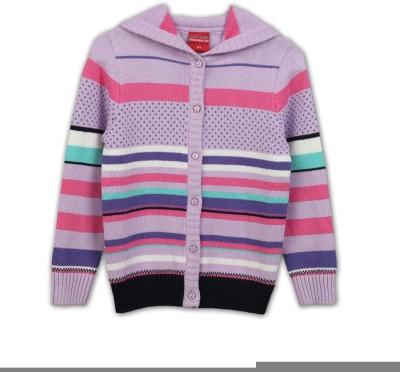 Lilliput Girls Button Striped Cardigan