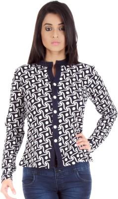 Vea Kupia Women's Button Printed Cardigan