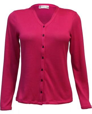 Attuendo Women,s Button Solid Cardigan