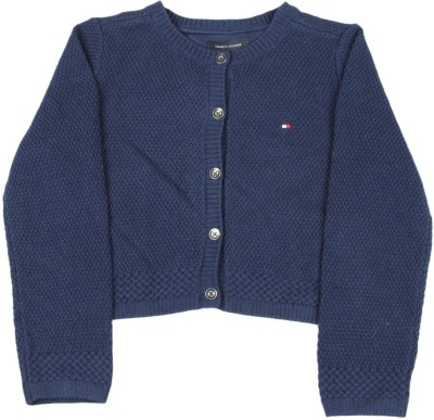 f650063cd Tommy Hilfiger Girls Button Solid Cardigan available at Flipkart for Rs.1290