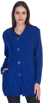 Mable Women's Button Self Design Cardigan