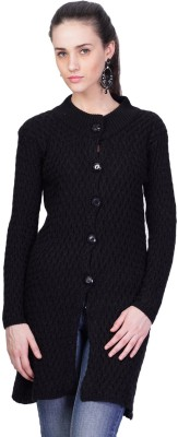 Montrex Womens Button Solid Cardigan