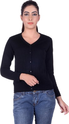 Ogarti Women,s Button Solid Cardigan