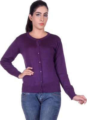 Ogarti Womens Button Solid Cardigan