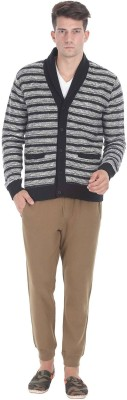 Zobello Men's Button Striped Cardigan