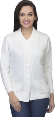 One Femme Women's Button Self Design Cardigan