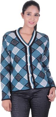 Denovo Women's Button Argyle Cardigan