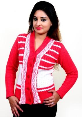 Laadli Ji Women's Button Woven Cardigan