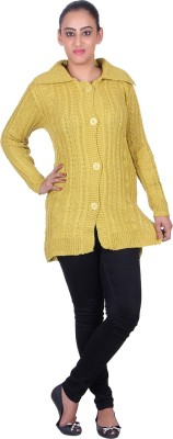 eWools Women's Button Solid Cardigan