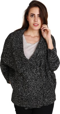 SOIE Women,s Button Self Design Cardigan