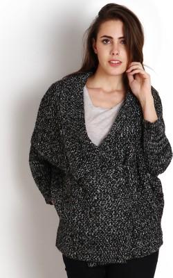 SOIE Women,s Button Solid Cardigan