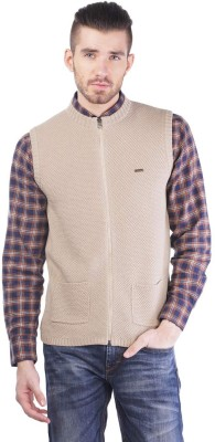 TSAVO Men's Zipper Self Design Cardigan