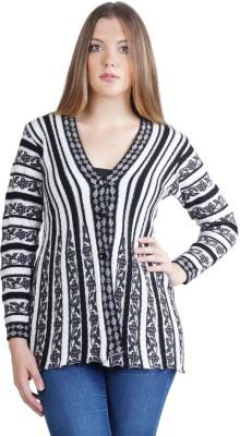Montrex Women,s Button Floral Print, Striped Cardigan