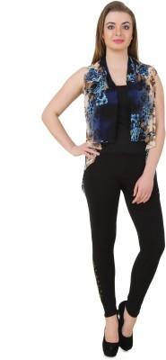 Mojeska Women's Button Self Design Cardigan