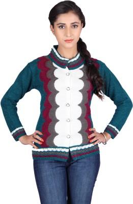 Montrex Women,s Button Geometric Print Cardigan