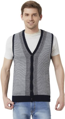 Peter England Men's Button Solid Cardigan