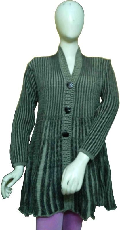 Miraaya Women's Button Self Design Cardigan
