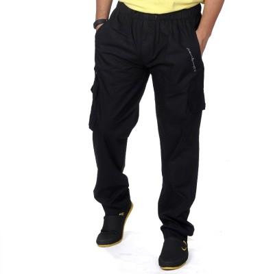 Anchy Solid Men's Black Track Pants