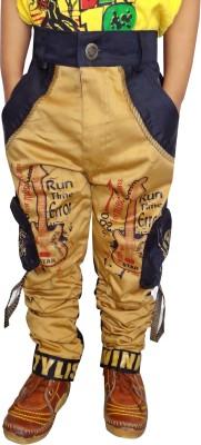 AD & AV Regular Fit Boys Gold Trousers