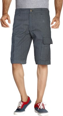 London Bee Black Color Men's Cargos
