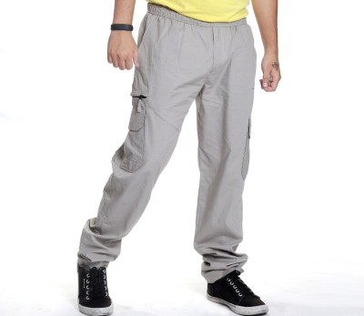 Anchy Solid Men's White Track Pants