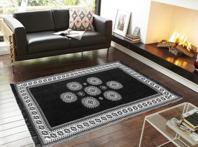 Home Castle Black Chenille Carpet