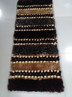 Treasure Brown Cotton Polyester Blend Area Rug