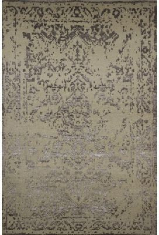 Imperial Knots Beige Wool Carpet(152.4 cm  X 243.84 cm)