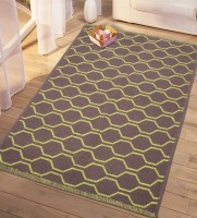 Saral Home Green Cotton Dhurrie(90 cm  X 130 cm)