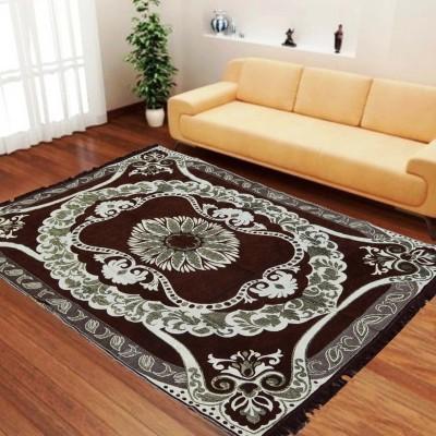 Stella Creations Brown Velvet Carpet(140 cm  X 215 cm) at flipkart