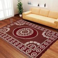 Stella Creations Maroon Velvet Carpet(140 cm  X 215 cm)
