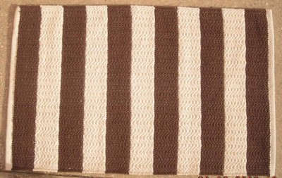 RACHNA DESIGNS Brown Cotton Dhurrie
