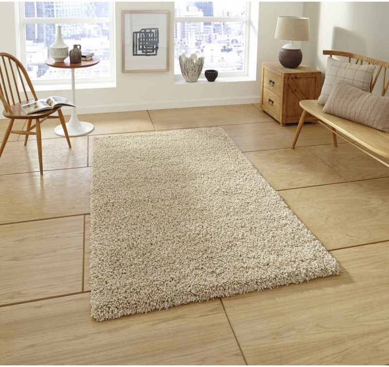P.S Decor Beige Cotton Polyester Blend Area Rug(60 cm  X 150 cm)