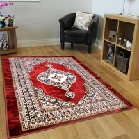 PS DECOR Multicolor Chenille Carpet