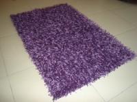 Little Home Purple Cotton Polyester Blend Carpet(60 cm  X 90 cm)