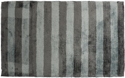 Indiesouq Light Blue, Grey Viscose Area Rug