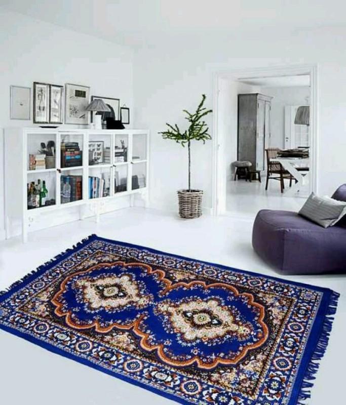 GARIMA 3 STAR Blue Jute Carpet(150 cm X 210 cm)