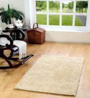 Homefurry Beige Polyester Carpet(90 cm  X 150 cm)