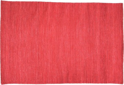 Amit Carpet Red, Maroon Wool Dhurrie
