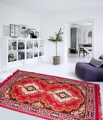 Aazeem Maroon Polyester Carpet(152 cm X 215 cm)