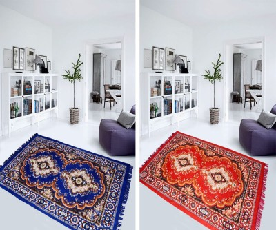 Aazeem Multicolor Polyester Carpet(152 cm X 215 cm)