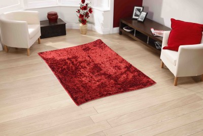 Sawariya Decor Red Polyester Carpet