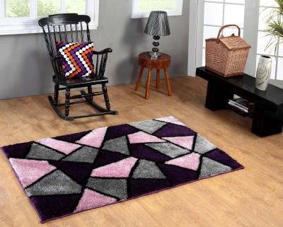 Excel Bazaar Purple Polyester Carpet